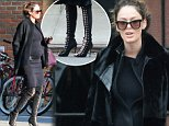 Picture Shows: Nicole Trunfio  December 04, 2014\n \n Pregnant Nicole Trunfio dresses her baby bum in an all black ensemble, while out in New York City. The model recently announced that she is expecting her first child with long time parter Gary Clark Jr. and that the pair are also engaged. \n \n Non Exclusive\n UK RIGHTS ONLY\n \n Pictures by : FameFlynet UK © 2014\n Tel : +44 (0)20 3551 5049\n Email : info@fameflynet.uk.com