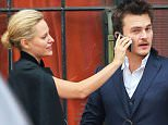 Picture Shows: Aimee Mullins, Rupert Friend  December 03, 2014    Newly engaged couple Rupert Friend and Aimee Mullins are spotted leaving their New York City, New York hotel on December 3, 2014.    Non-Exclusive  UK RIGHTS ONLY    Pictures by : FameFlynet UK © 2014  Tel : +44 (0)20 3551 5049  Email : info@fameflynet.uk.com