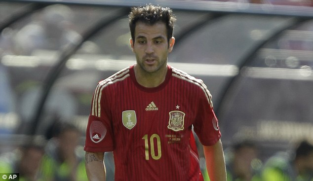 New signing: Fabregas will wear the No 4 shirt and counts as a homegrown player for Chelsea
