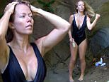***EMBARGO NOT TO BE USED BEFORE 21:00, 04 DEC 2014 - EDITORIAL USE ONLY - NO MERCHANDISING***\n Mandatory Credit: Photo by REX (4275140ds)\n Kendra Wilkinson in the shower\n 'I'm A Celebrity...Get Me Out Of Here!' TV Programme, Australia - 04 Dec 2014\n \n