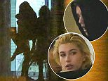 UK CLIENTS MUST CREDIT: AKM-GSI ONLY EXCLUSIVE: Beverly Hills, CA - Justin Bieber and Hailey Baldwin spent the entire day together, the new young couple visited a medical building in Beverly Hills before heading to a quite lunch at Spago in Beverly Hills, after lunch Bieber took Hailey to recording session in Los Angeles where they were caught hugging each other. Shot on  December  2, 2014  Pictured: Justin Bieber and Hailey Baldwin Ref: SPL904406  031214   EXCLUSIVE Picture by: AKM-GSI / Splash News