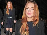 03 DEC 2014 - LONDON  - UK LIDSAY LOHAN PITURED ARRIVING AT THE ICAP CHARITY DAY AFTER THE EVENT HAD FINISHED AND TRADING HAD STOPPED! BYLINE MUST READ : XPOSUREPHOTOS.COM ***UK CLIENTS - PICTURES CONTAINING CHILDREN PLEASE PIXELATE FACE PRIOR TO PUBLICATION *** **UK CLIENTS MUST CALL PRIOR TO TV OR ONLINE USAGE PLEASE TELEPHONE   44 208 344 2007 **