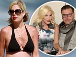A pregnant Tori Spelling takes the family to the beach in Malibu for the day where they rented a seaside house. Dean plays with the kids while Tori soaks up the sun on her beach towel and eats. ....Pictured: Tori Spelling....Ref: SPL283397  300511  ..Picture by: Kaminski / Splash News....Splash News and Pictures..Los Angeles:\\t310-821-2666..New York:\\t212-619-2666..London:\\t870-934-2666..photodesk@splashnews.com..