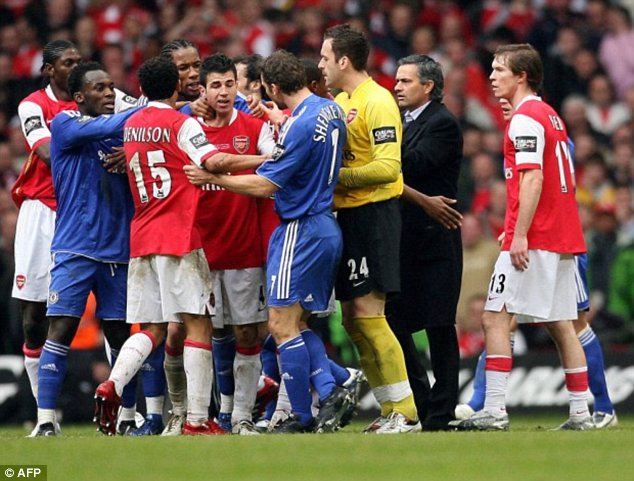 History: Fabregas will join his new club after the World Cup hoping to forget moments such as this in 2007