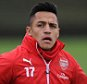 ST ALBANS, ENGLAND - DECEMBER 05:  Alexis Sanchez of Arsenal during a training session at London Colney on December 5, 2014 in St Albans, England.  (Photo by Stuart MacFarlane/Arsenal FC via Getty Images)