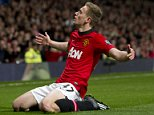 MANCHESTER UNITED V HULL CITY - FOOTBALL PREMIER LEAGUE - Pic shows:-  Man United's James Wilson scores 2-0 PIcture by Ian Hodgson/Daily Mail