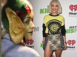 EXCLUSIVE - Rita Ora was spotted at the LA Staples Center for the KLOS Jingle Ball, on Friday, December 5, 2014 X17online.com