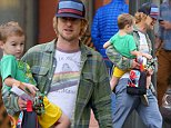 EXCLUSIVE TO INF.\nDecember 5, 2014: Owen Wilson spends some quality time with his son, Robert Ford Wilson in Santa Monica, CA.\nMandatory Credit: Sasha Lazic/INFphoto Ref: infusla-257