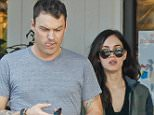 Beverly Hills, CA - A-Lister couple Megan Fox and Brian Austin Green grab breakfast at Beverly Glenn Mall on this Thursday afternoon, the brunette star matched her shades with a black v-neck tee, she also wore a green jacket on top and gray trousers. AKM-GSI           December 4,  2014 To License These Photos, Please Contact :    Steve Ginsburg  (310) 505-8447  (323) 423-9397  steve@akmgsi.com  sales@akmgsi.com    or    Maria Buda  (917) 242-1505  mbuda@akmgsi.com  ginsburgspalyinc@gmail.com