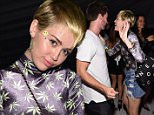 MIAMI, FL - DECEMBER 05:  Model Patrick Schwarzenegger (L) and singer/songwriter Miley Cyrus attend Haute Living presents Hublot Time Is Beautiful at the estate of JR and Loren Ridinger on December 5, 2014 in Miami, Florida.  (Photo by Dimitrios Kambouris/Getty Images For Hublot)