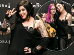 SYDNEY, AUSTRALIA - DECEMBER 06:  Kat Von D poses during an instore appearance at Sephora Pitt St Mall on December 6, 2014 in Sydney, Australia.  (Photo by Caroline McCredie/WireImage)
