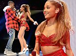 LOS ANGELES, CA - DECEMBER 05:  Rapper Big Sean (L) and singer Ariana Grande perform onstage during KIIS FM's Jingle Ball 2014  powered by LINE at Staples Center on December 5, 2014 in Los Angeles, California.  (Photo by Kevin Mazur/WireImage)