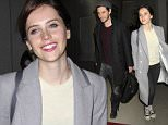 """Felicity Jones & Ben Barnes arrive in Los Angeles on the same flight and wait in the same car as the """"The Theory of Everything"""" star waits in """"The Chronicles of Narnia"""" stars car while she waits for her limo.   Pictured: Felicity Jones Ref: SPL905262  051214   Picture by: Sharky / Splash News  Splash News and Pictures Los Angeles: 310-821-2666 New York: 212-619-2666 London: 870-934-2666 photodesk@splashnews.com"""