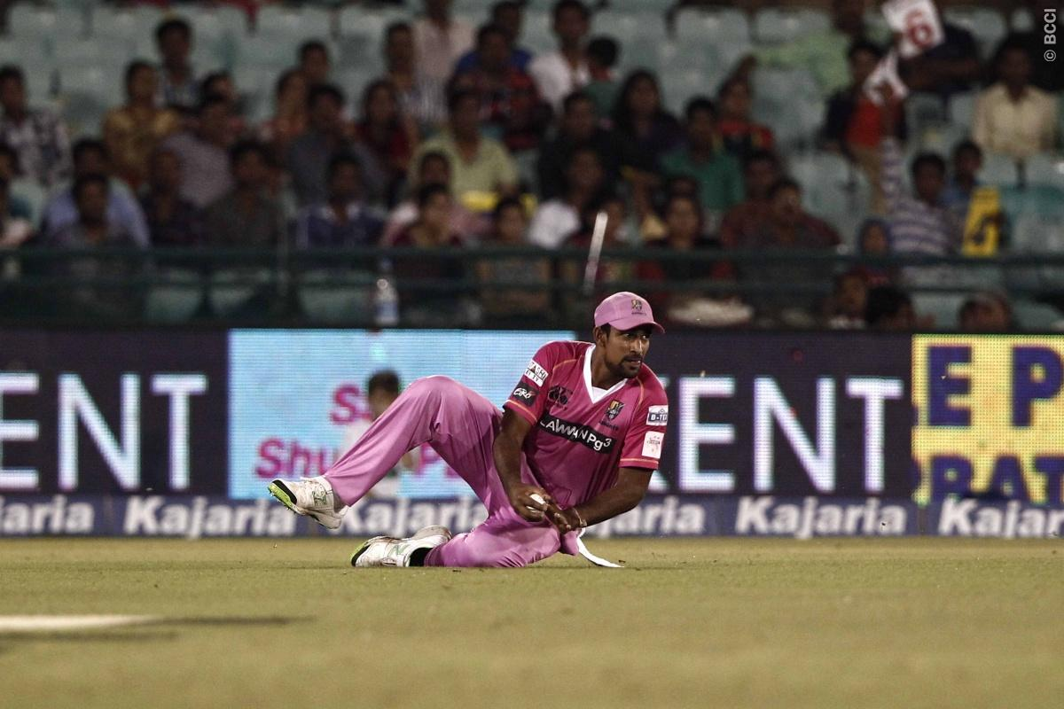 Ish Sodhi of the NORTHERN KNIGHTS trying to save run during match 9 of the Oppo Champions League Twenty20 between the Hobart Hurricanes and the Northern knights held at the Chhattisgarh International Cricket Stadium, Raipur, India on the 23rd September 2014  Photo by:  Deepak Malik / Sportzpics/ CLT20   Image use is subject to the terms and conditions as laid out by the BCCI/ CLT20.  The terms and conditions can be downloaded here:  http://sportzpics.photoshelter.com/gallery/CLT20-Image-Terms-an