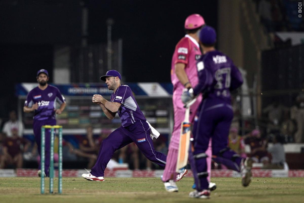 Travis Birt of Hobart Hurricanes take the catch of Ish Sodhi of the NORTHERN KNIGHTS during match 9 of the Oppo Champions League Twenty20 between the Hobart Hurricanes and the Northern knights held at the Chhattisgarh International Cricket Stadium, Raipur, India on the 23rd September 2014  Photo by:  Deepak Malik / Sportzpics/ CLT20   Image use is subject to the terms and conditions as laid out by the BCCI/ CLT20.  The terms and conditions can be downloaded here:  http://sportzpics.photoshelter.