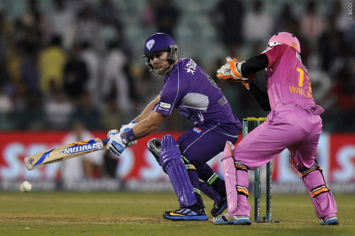 Aiden Blizzard of Hobart Hurricanes bats during match 9 of the Oppo Champions League Twenty20 between the Hobart Hurricanes and the Northern knights held at the Chhattisgarh International Cricket Stadium, Raipur, India on the 23rd September 2014  Photo by:  Pal Pillai / Sportzpics/ CLT20   Image use is subject to the terms and conditions as laid out by the BCCI/ CLT20.  The terms and conditions can be downloaded here:  http://sportzpics.photoshelter.com/gallery/CLT20-Image-Terms-and-Conditions-