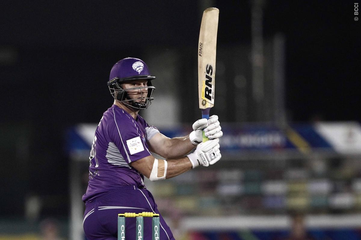 Travis Birt of Hobart Hurricanes during match 9 of the Oppo Champions League Twenty20 between the Hobart Hurricanes and the Northern knights held at the Chhattisgarh International Cricket Stadium, Raipur, India on the 23rd September 2014  Photo by:  Deepak Malik / Sportzpics/ CLT20   Image use is subject to the terms and conditions as laid out by the BCCI/ CLT20.  The terms and conditions can be downloaded here:  http://sportzpics.photoshelter.com/gallery/CLT20-Image-Terms-and-Conditions-2014/G0