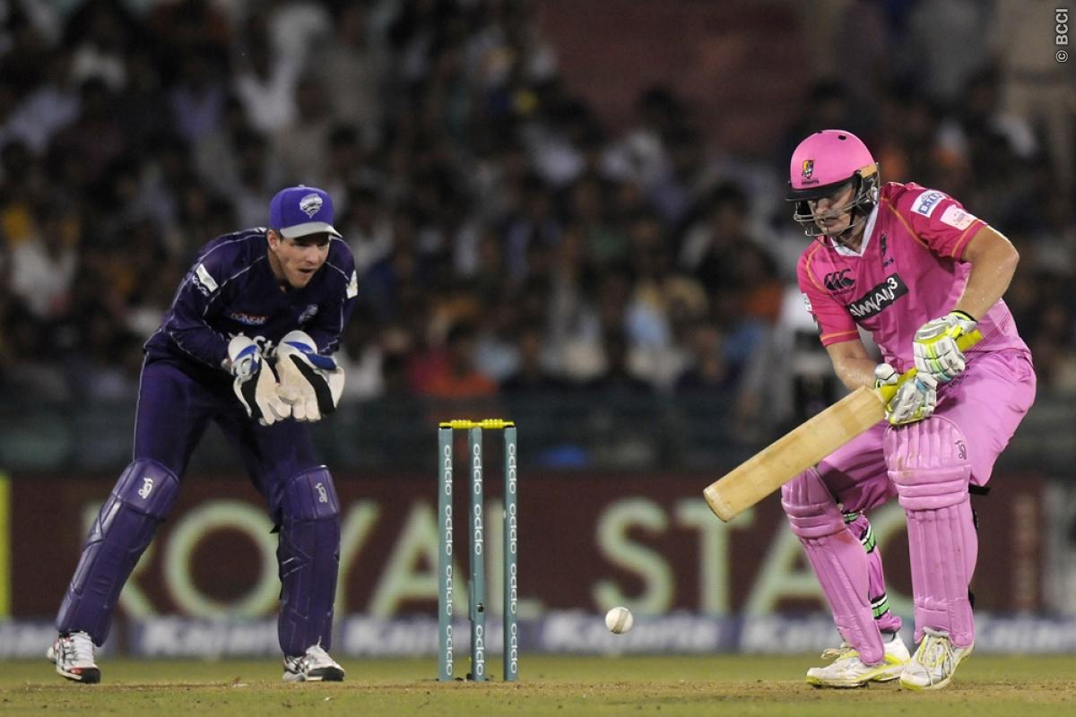 Scott Styris of Northern Knights bats during match 9 of the Oppo Champions League Twenty20 between the Hobart Hurricanes and the Northern knights held at the Chhattisgarh International Cricket Stadium, Raipur, India on the 23rd September 2014  Photo by:  Pal Pillai / Sportzpics/ CLT20   Image use is subject to the terms and conditions as laid out by the BCCI/ CLT20.  The terms and conditions can be downloaded here:  http://sportzpics.photoshelter.com/gallery/CLT20-Image-Terms-and-Conditions-201