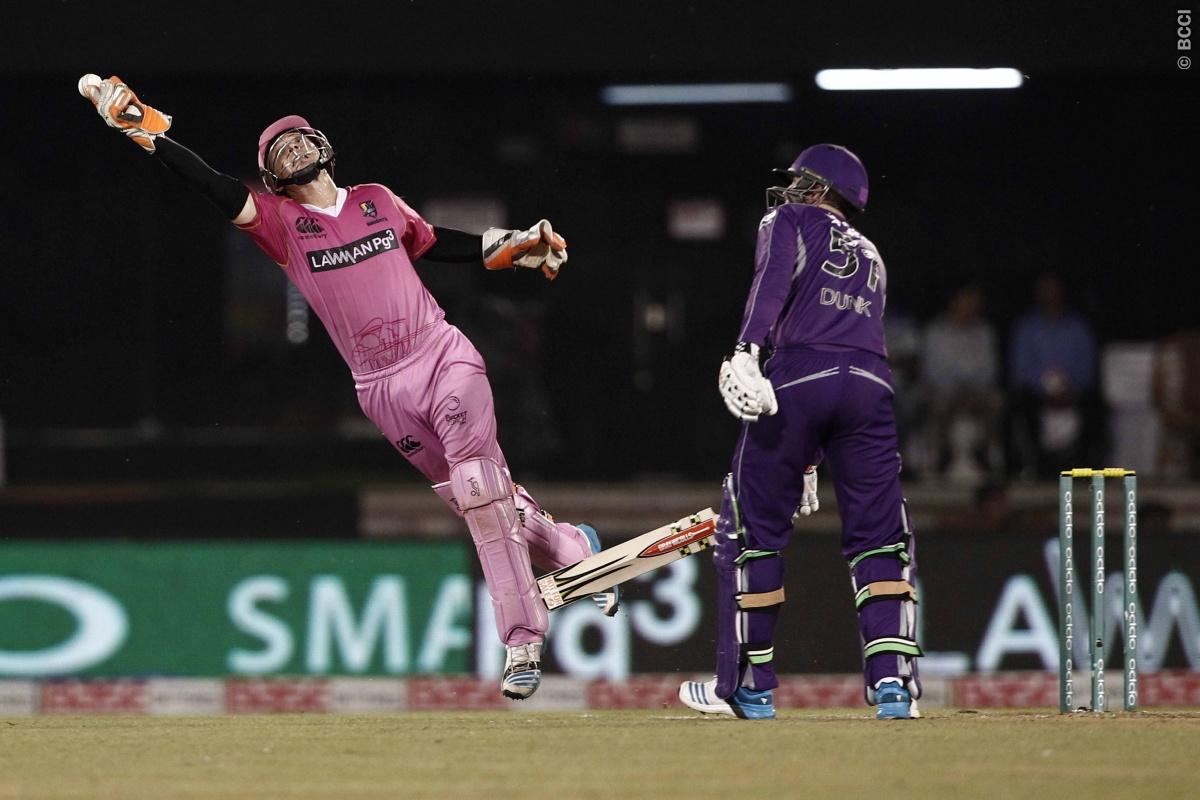 BJ Watling of the NORTHERN KNIGHTS during match 9 of the Oppo Champions League Twenty20 between the Hobart Hurricanes and the Northern knights held at the Chhattisgarh International Cricket Stadium, Raipur, India on the 23rd September 2014  Photo by:  Deepak Malik / Sportzpics/ CLT20   Image use is subject to the terms and conditions as laid out by the BCCI/ CLT20.  The terms and conditions can be downloaded here:  http://sportzpics.photoshelter.com/gallery/CLT20-Image-Terms-and-Conditions-2014/
