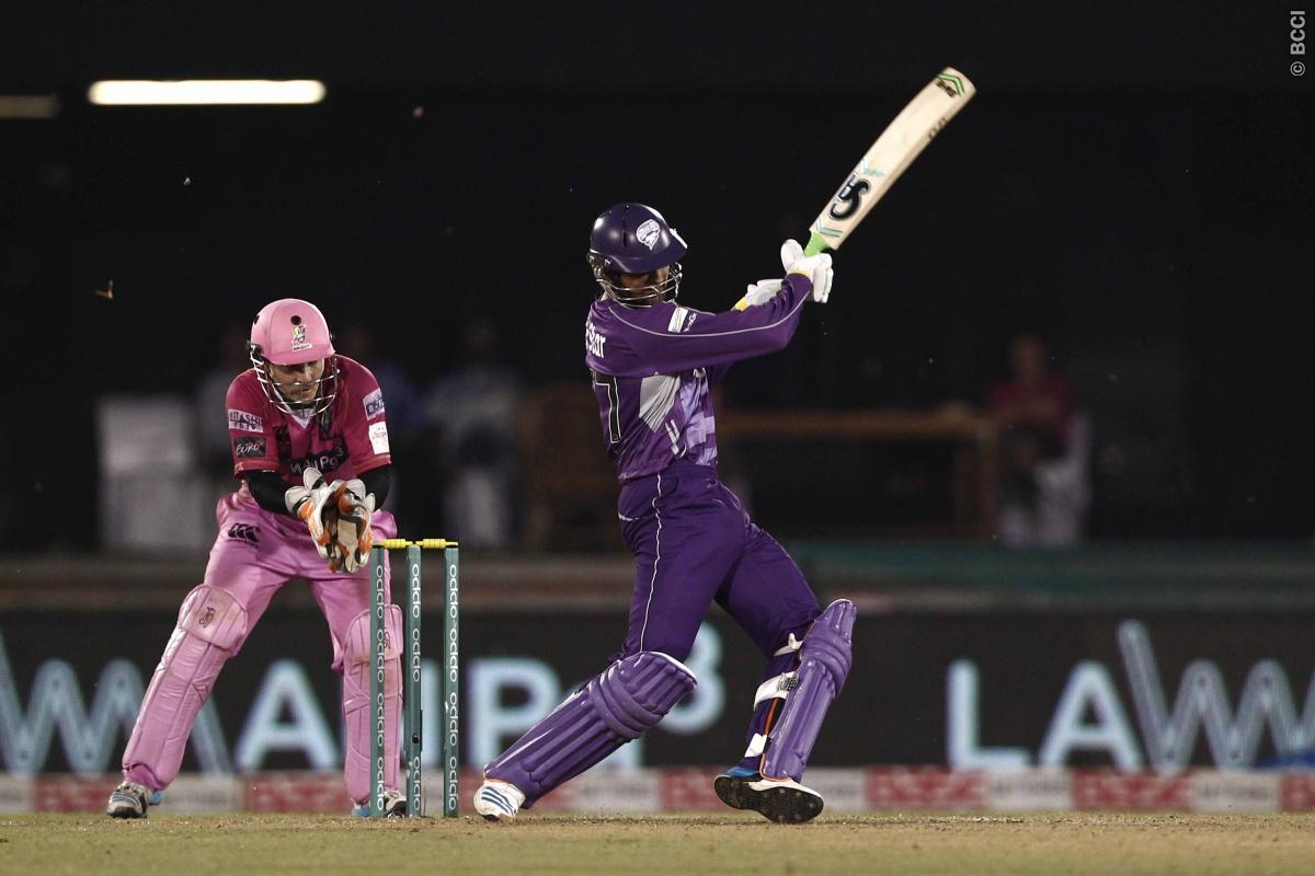 Shoaib Malik of Hobart Hurricanes during match 9 of the Oppo Champions League Twenty20 between the Hobart Hurricanes and the Northern knights held at the Chhattisgarh International Cricket Stadium, Raipur, India on the 23rd September 2014  Photo by:  Deepak Malik / Sportzpics/ CLT20   Image use is subject to the terms and conditions as laid out by the BCCI/ CLT20.  The terms and conditions can be downloaded here:  http://sportzpics.photoshelter.com/gallery/CLT20-Image-Terms-and-Conditions-2014/G