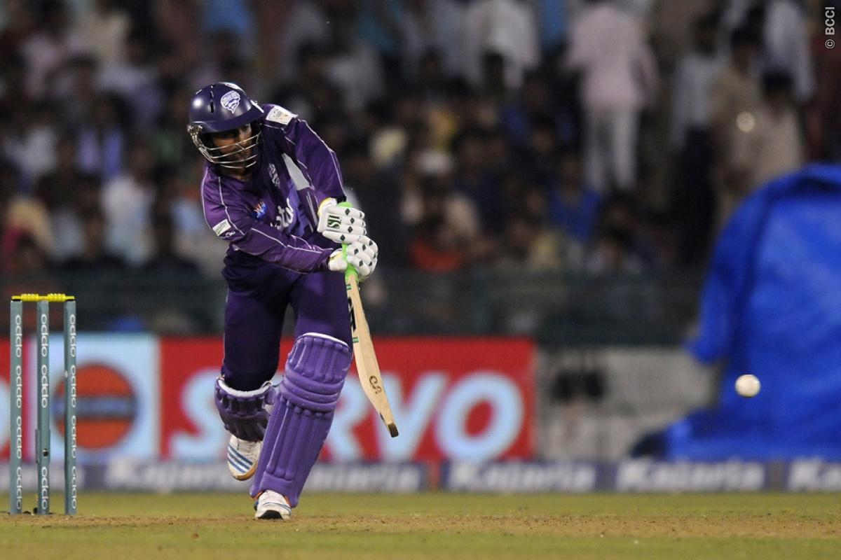 Shoaib Malik of Hobart Hurricanes bats during match 9 of the Oppo Champions League Twenty20 between the Hobart Hurricanes and the Northern knights held at the Chhattisgarh International Cricket Stadium, Raipur, India on the 23rd September 2014  Photo by:  Pal Pillai / Sportzpics/ CLT20   Image use is subject to the terms and conditions as laid out by the BCCI/ CLT20.  The terms and conditions can be downloaded here:  http://sportzpics.photoshelter.com/gallery/CLT20-Image-Terms-and-Conditions-20