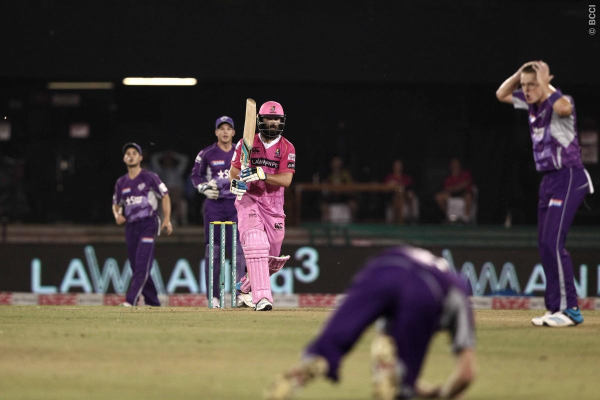 Anton Devcich of the NORTHERN KNIGHTS during match 9 of the Oppo Champions League Twenty20 between the Hobart Hurricanes and the Northern knights held at the Chhattisgarh International Cricket Stadium, Raipur, India on the 23rd September 2014  Photo by:  Deepak Malik / Sportzpics/ CLT20   Image use is subject to the terms and conditions as laid out by the BCCI/ CLT20.  The terms and conditions can be downloaded here:  http://sportzpics.photoshelter.com/gallery/CLT20-Image-Terms-and-Conditions-20