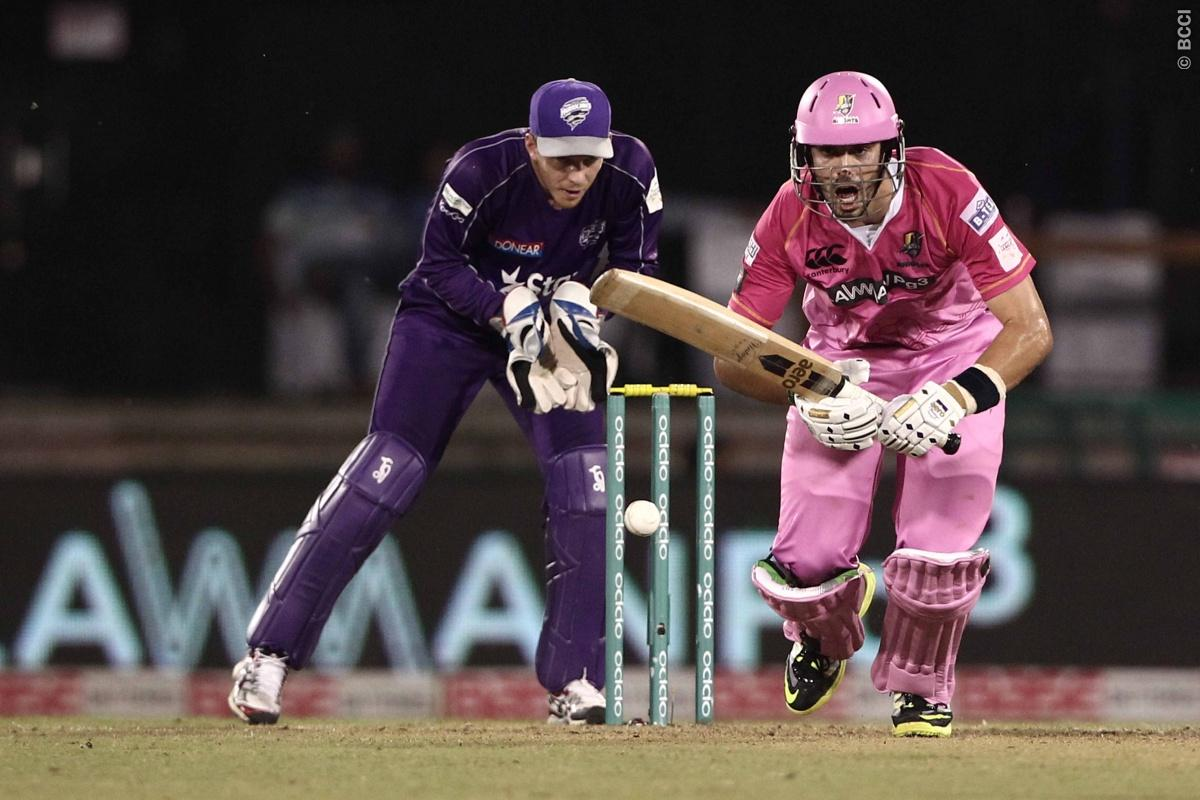 Daryl Mitchell of the NORTHERN KNIGHTS during match 9 of the Oppo Champions League Twenty20 between the Hobart Hurricanes and the Northern knights held at the Chhattisgarh International Cricket Stadium, Raipur, India on the 23rd September 2014  Photo by:  Deepak Malik / Sportzpics/ CLT20   Image use is subject to the terms and conditions as laid out by the BCCI/ CLT20.  The terms and conditions can be downloaded here:  http://sportzpics.photoshelter.com/gallery/CLT20-Image-Terms-and-Conditions-2
