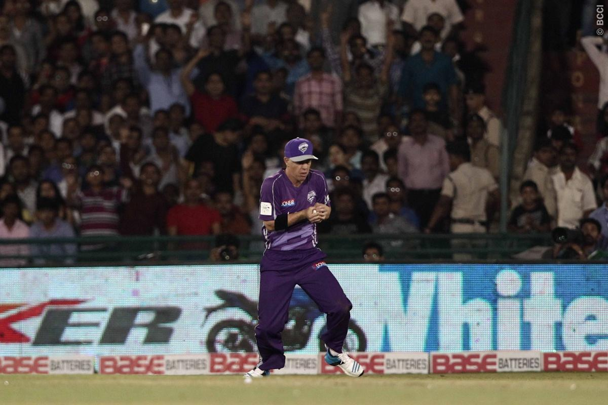Kane Williamson of the NORTHERN KNIGHTS caught by Xavier Doherty of Hobart  Hurricanes during match 9 of the Oppo Champions League Twenty20 between the Hobart Hurricanes and the Northern knights held at the Chhattisgarh International Cricket Stadium, Raipur, India on the 23rd September 2014  Photo by:  Deepak Malik / Sportzpics/ CLT20   Image use is subject to the terms and conditions as laid out by the BCCI/ CLT20.  The terms and conditions can be downloaded here:  http://sportzpics.photoshelte