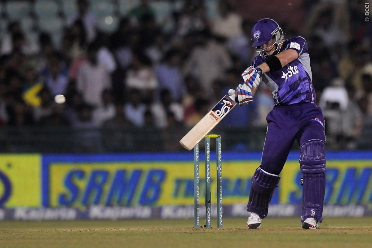 Tim Paine captain of Hobart Hurricanes bats during match 9 of the Oppo Champions League Twenty20 between the Hobart Hurricanes and the Northern knights held at the Chhattisgarh International Cricket Stadium, Raipur, India on the 23rd September 2014  Photo by:  Pal Pillai / Sportzpics/ CLT20   Image use is subject to the terms and conditions as laid out by the BCCI/ CLT20.  The terms and conditions can be downloaded here:  http://sportzpics.photoshelter.com/gallery/CLT20-Image-Terms-and-Condition