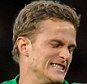 Anders Lindegaard during game against Spurs. Football: Premier League: Manchester United 2 Tottenham 3  . REXMAILPIX.