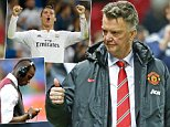 Manchester United manager Louis van Gaal gives a thumbs up