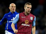 7 December 2014 - Barclays Premier League - Aston Villa v Leicester City - Tom Cleverley of Aston Villa in action with Esteban Cambiasso of Leicester City - Photo: Marc Atkins / Offside.