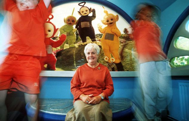 Anne Wood, creator of the Teletubbies, pictured, who says home-grown children's TV programmes are in terminal decline
