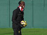 LIVERPOOL, ENGLAND - DECEMBER 12:  (THE SUN OUT, THE SUN ON SUNDAY OUT) Mario Balotelli of Liverpool during a training session at Melwood Training Ground on December 12, 2014 in Liverpool, England.  (Photo by John Powell/Liverpool FC via Getty Images)