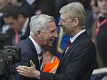 Managers Alan Pardew and Arsene Wenger are all smiles. Premier League: Arsenal v Newcastle United (3-0) Picture: Andy Hooper / Daily Mail