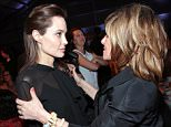 Mandatory Credit: Photo by Action Press/REX (4294357d)  Angelina Jolie, Amy Pascal  Women in Entertainment Breakfast, Los Angeles, America - 10 Dec 2014