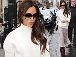 Victoria Beckham is seen at her shop in dover street london  Pictured: Victoria Beckham Ref: SPL910192  121214   Picture by: Neil Warner /Splash News  Splash News and Pictures Los Angeles: 310-821-2666 New York: 212-619-2666 London: 870-934-2666 photodesk@splashnews.com