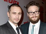 "LOS ANGELES, CA - DECEMBER 11:  Actors James Franco (L) and Seth Rogen attend the Premiere of Columbia Pictures' ""The Interview"" at The Theatre at Ace Hotel Downtown LA on December 11, 2014 in Los Angeles, California.  (Photo by Kevin Winter/Getty Images)"