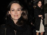 (MINIMUM REPRO £1,500 FOR THE SET PAPERS ONLY) Actress Keira Knightley attends private in London, first pictures after the announcement of her pregnacy with husband James Righton. London. UK. 11/12/2014..BYLINE MUST READ : JAMESY/GOTCHA IMAGES....Copyright by © Gotcha Images Ltd. All rights reserved...Usage of this image is conditional upon the acceptance ..of Gotcha Images Ltd, terms and conditions available at..www.gotchaimages.com