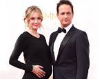 LOS ANGELES, CA - AUGUST 25:  Sophie Flack and Josh Charles arrives at the 66th Annual Primetime Emmy Awards at Nokia Theatre L.A. Live on August 25, 2014 in Los Angeles, California.  (Photo by Steve Granitz/WireImage)