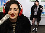 """NEW YORK, NY - DECEMBER 12:  (EXCLUSIVE COVERAGE) Charli XCX visits """"The Elvis Duran Z100 Morning Show"""" at Z100 Studio on December 12, 2014 in New York City.  (Photo by Andrew Toth/Getty Images)"""
