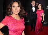 BEVERLY HILLS, CA - DECEMBER 11:  Fran  ois-Henri Pinault (L) and actress Salma Hayek attend Rihanna's First Annual Diamond Ball at The Vineyard on December 11, 2014 in Beverly Hills, California.  (Photo by Steve Granitz/WireImage)