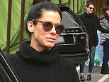 EXCLUSIVE - Sandra Bullock was spotted out and about in Los Angeles.  The star had her hair up, in a black sweater, shades and skinny jeans, on Thursday, December 11, 2014  X17online.com