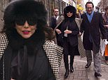 Joan Collins and her husband Percy Gibson in Charlotte street after a meeting with her agent Jonathan Shalit at his company office Roar Global