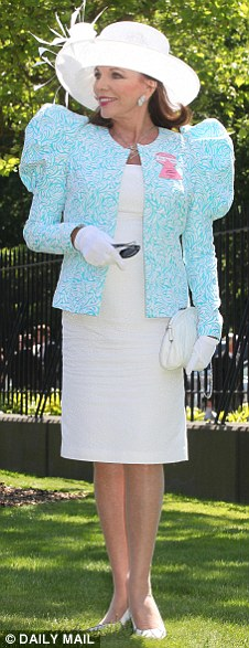Joan Collins attends Royal Ascot Ladies Day on June 17, 2010