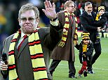 Watford Life President Sir Elton John takes to the pitch as the new stand at Vicarage Road is named in his honour