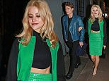 13 Dec 2014 - LONDON - UK  PIXIE LOTT AND MODEL BOYFRIEND OLIVER CHESHIRE ARRIVE FOR NIGHT OUT AT GROUCHO CLUB ON FRIDAY 12TH DEC 2014.  BYLINE MUST READ : XPOSUREPHOTOS.COM  ***UK CLIENTS - PICTURES CONTAINING CHILDREN PLEASE PIXELATE FACE PRIOR TO PUBLICATION ***  **UK CLIENTS MUST CALL PRIOR TO TV OR ONLINE USAGE PLEASE TELEPHONE   44 208 344 2007 **