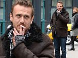 Jason Segel seen out for a walk in the Tribeca neighborhood of Manhattan.\n\nPictured: Jason Segel\nRef: SPL912348  141214  \nPicture by: Doug Meszler / Splash News\n\nSplash News and Pictures\nLos Angeles: 310-821-2666\nNew York: 212-619-2666\nLondon: 870-934-2666\nphotodesk@splashnews.com\n