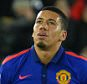 Chris Smalling of Manchester United sits injured