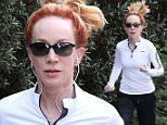 Pictured: Kathy Griffin\nMandatory Credit © OSLA/Broadimage\n***EXCLUSIVE****\nKathy Griffin spotted jogging through the Hollywood Hills\n\n12/14/14, Hollywood, California, United States of America\n\nBroadimage Newswire\nLos Angeles 1+  (310) 301-1027\nNew York      1+  (646) 827-9134\nsales@broadimage.com\nhttp://www.broadimage.com\n